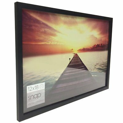 Photo Frame Poster Picture Frame 12 x 18 Inch Black Wood Glass Cover Wall Decor