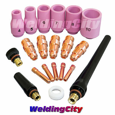 Tig Welding Torch 171826 Accessory Kit Stubby Collet Setup T23 Us Seller Fast
