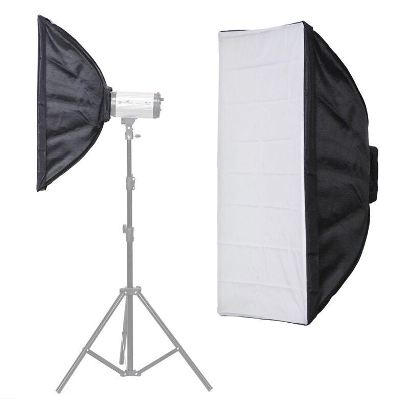 """Photography Studio 24"""" x 36"""" Black & Silver Softbox Reflector w/ Diffuser Cover"""