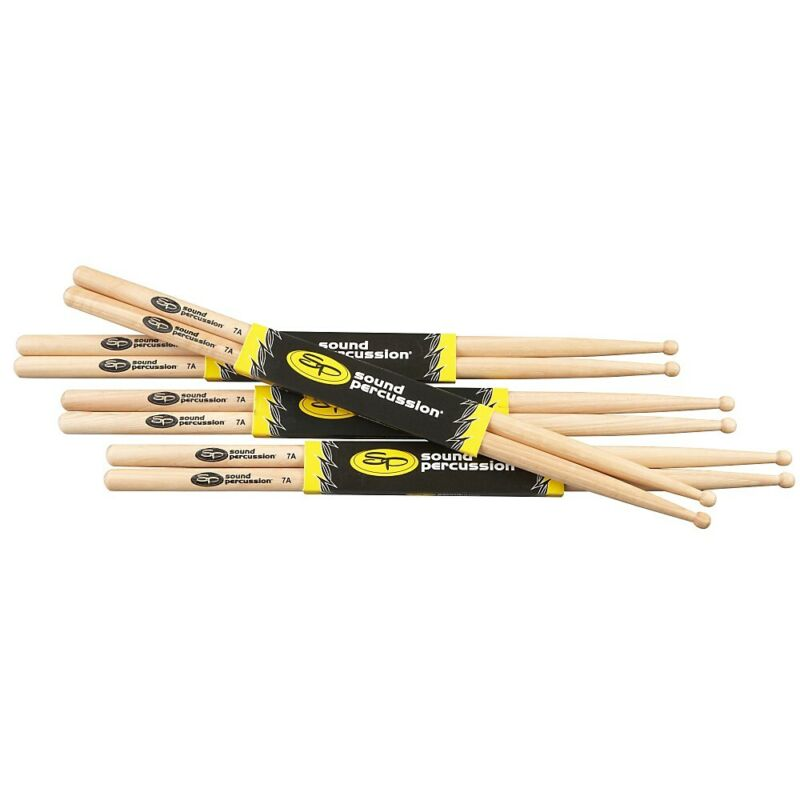 Sound Percussion Labs Hickory Drumsticks 4-Pack 7A Wood