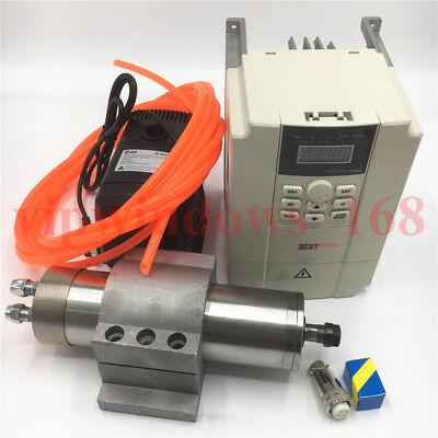 1.2kw Cnc Spindle Motor 60000rpm Er11 High Speed Vfd Inverterpumpbracket Kit