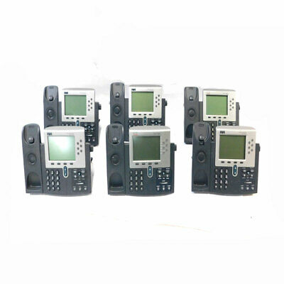 Lot Of 6 Cisco 7961 Ip Business Conference Phone 48 Vdc No Handsets