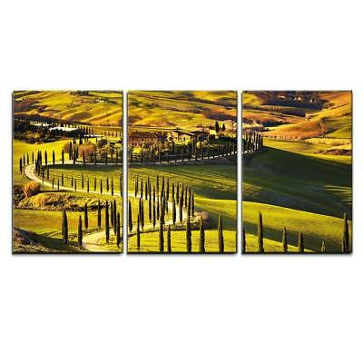 """Wall26 - Tuscany Sunset Landscape - Canvas Art Wall Decor - 24""""x36"""" in"""