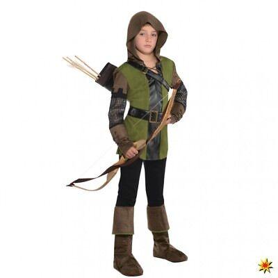 Kinderkostüm Robin Hood Junge Fasching Kostüm Jäger Held des Waldes
