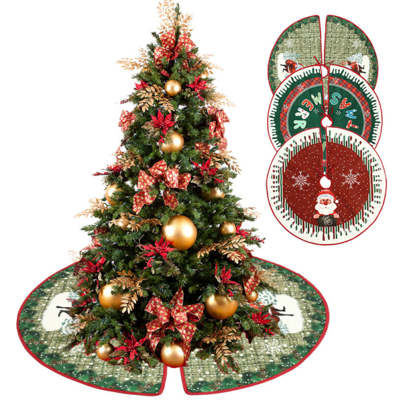 christmas tree skirt floor mat aprons round