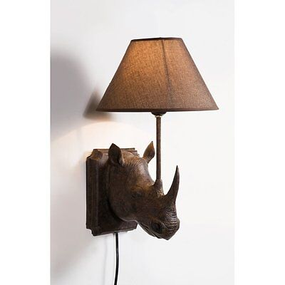 H&H... RHINO WALL LAMP LIGHT NEW
