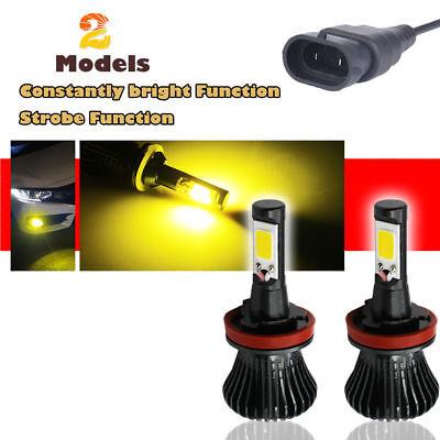 55W H11 Golden Yellow 1 Pair Low Beam 3000K Xenon HID Kit Conversion Bulbs 2pcs