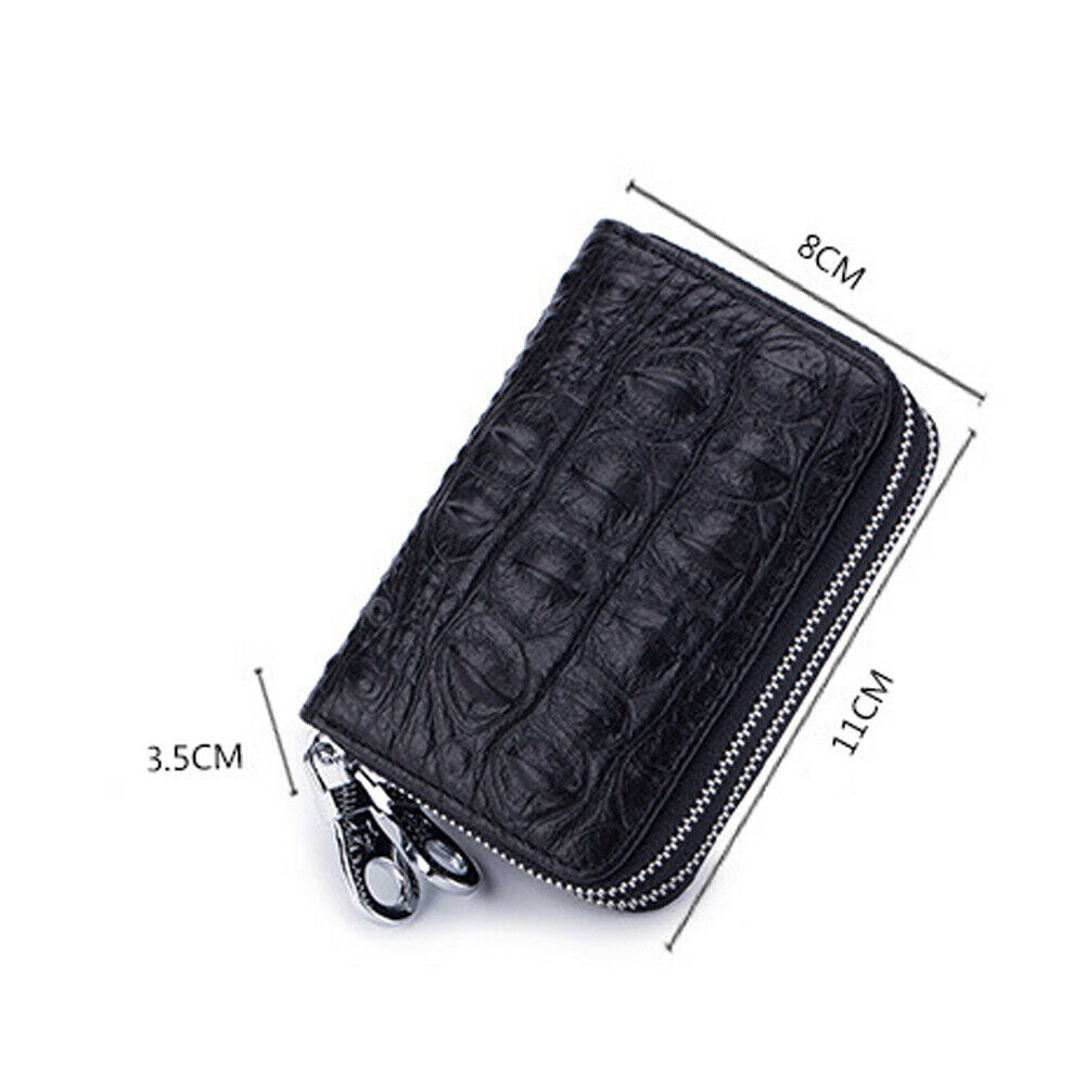 Women Men Leather Wallet Credit Card Holder RFID Blocking Pocket Purse US Clothing, Shoes & Accessories