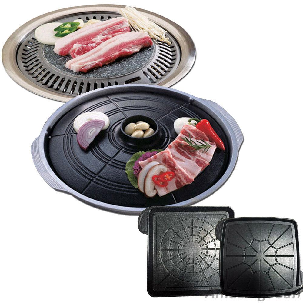 Koreanisch Grill BBQ, Korean Barbecue Stone Plate, Samgyupsal, Schweinebauch