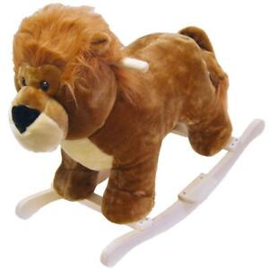 New Happy Trails Lion Plush Rocking Animal, PICKUP ONLY - DI6