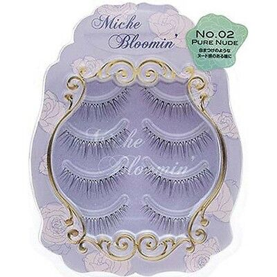 Miche Bloomin False Eyelashes Pure Nude No.02 4 Pairs F/S