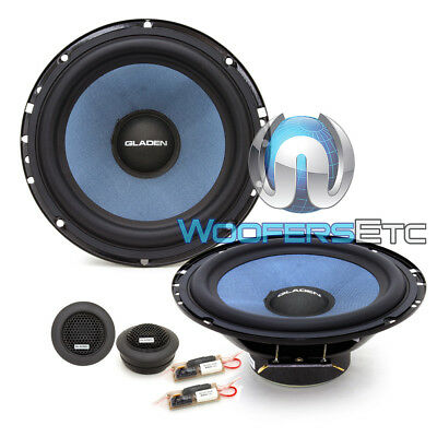 """GLADEN ALPHA 165 6.5"""" 75W RMS COMPONENT HIGH-EFFICIENCY TWEETERS SPEAKERS NEW for sale  Los Angeles"""