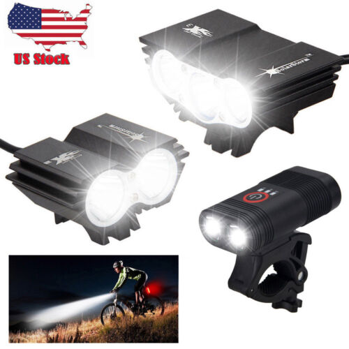 15000lm X3 LED Bicycle Headlight Cycling Front Lamp Rear Taillight Rechargeable