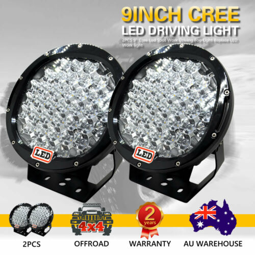 2X 9inch 3330W Cree Led  Spot Work riding Lights  OFFROAD Black