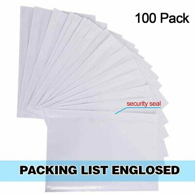 6x9 Clear Enclosed Packing List Envelope For Shipping Label Invoice Packing Slip