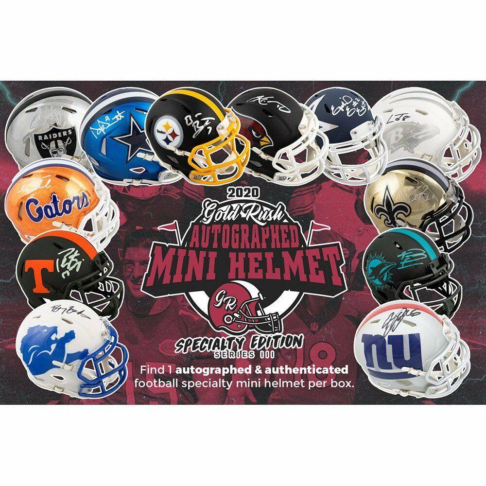 ATLANTA FALCONS Gold Rush S3 Football ALL SPECIALTY Mini Helmet 6 Box Break  - $19.99