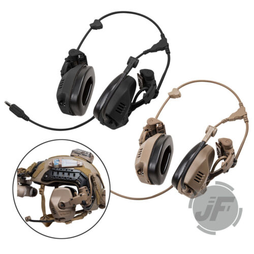 Tactical Headset Rail Attached Noise Reduction Army Communication for FCS RAC