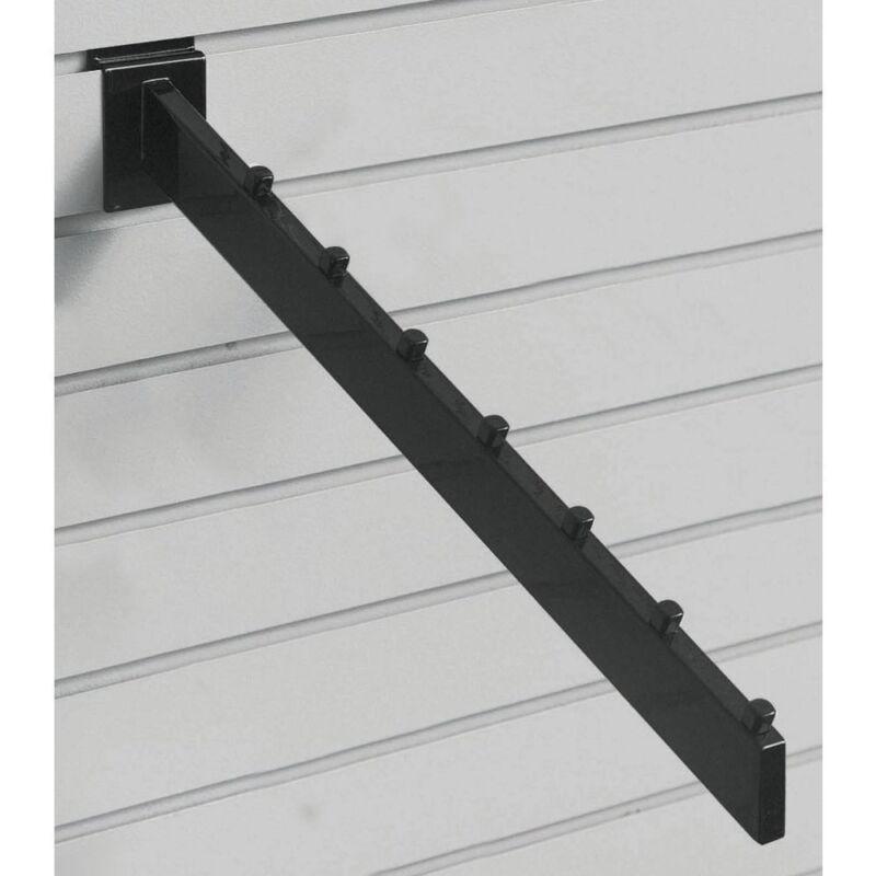 Black 7-Cube Slatwall Waterfall Hooks, 34452
