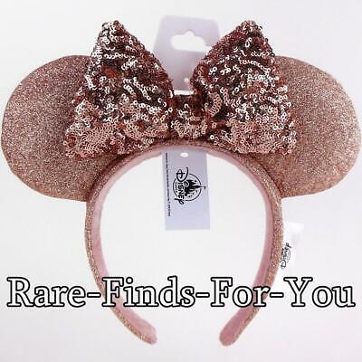 Minnie Mouse Ears Adult (Disney Parks Minnie Mouse Briar Rose Gold Ears Sequin Bow Headband)