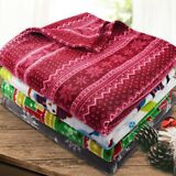 "Soft Fleece Throw Blanket - 50"" X 60"" - Great Gift! - By Clara Clark"