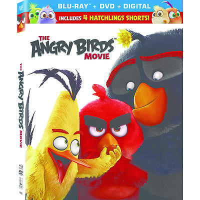 The ANGRY BIRDS MOVIE ((BLU-RAY/ DVD + DIGITAL) NEW NO SLIPCOVER FREE SHIPPING