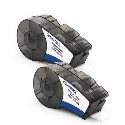 2pk Nylon Label Tape For Brady M21-750-499 19.1mm Blackwhite High Adhesion Tape