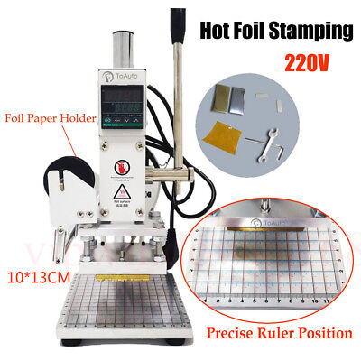 220v Hot Foil Stamping Machine Leather Stamper Bronzer Digital Display 1013cm