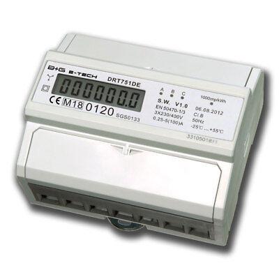 B+G e-tech MID geeichter LCD Drehstromzähler Stromzähler S0 5(100)A - MID2018