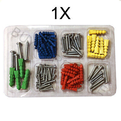 102 PC Drywall & Hollow-Wall Anchor Assortment Kit Anchors Screws 4 Sizes Colors](Anchor Wall)