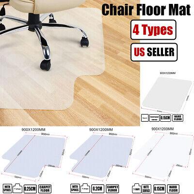 PVC Office Chair Desk Anti-slip Mat Protector For Wood Floor Studded Back Carpet