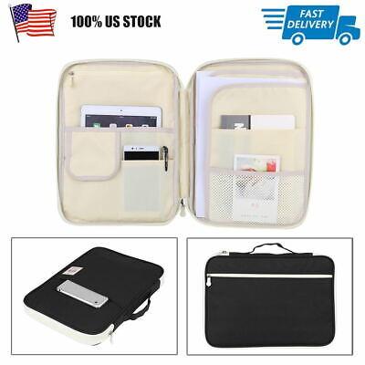 A4 Document Bag File Folder Portfolio Organizer Computer Notebook Zippered Case