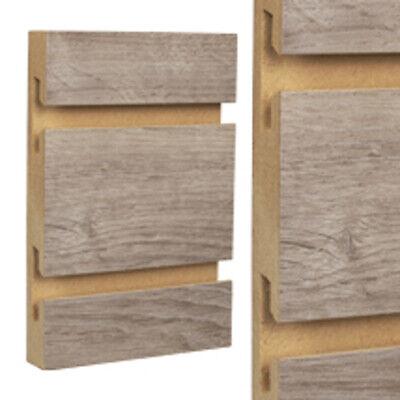 Stormy Oak Wood Standard Cut Slatwall Panels 4 H X 8 W Feet