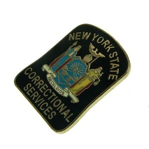 NY State Corrections Officer DOC Patch Lapel Pin Badge Correctional Services NEW