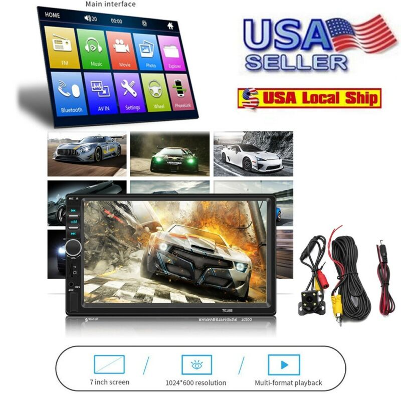 7 Inch DOUBLE 2DIN Car MP5 Player BT Tou+ch Screen Stereo Ra