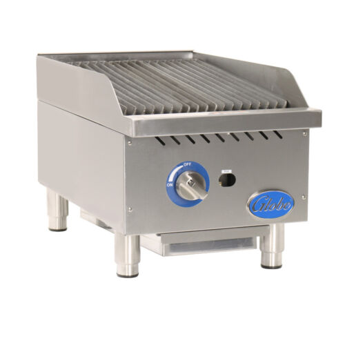 Globe Gcb15g-sr Gas Countertop Stainless Steel Radiant Charbroiler
