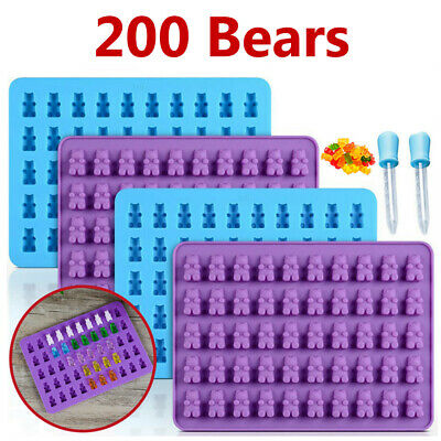 Gummy Bear Mold Candy Making Supplies Ice Chocolate Maker Silicone Molds kit New