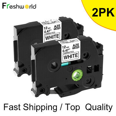 2pcs Black On White Label Tape Compatible For Brother Tz Tze 231 P-touch Tze231