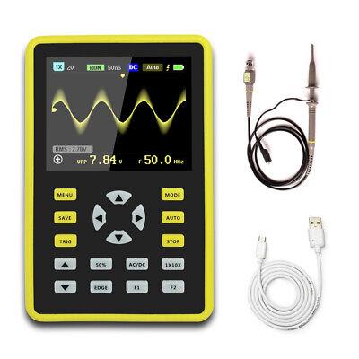 5012h Handheld Portable Ips Lcd Digital Mini Oscilloscope 100mhz 500msas A2i2