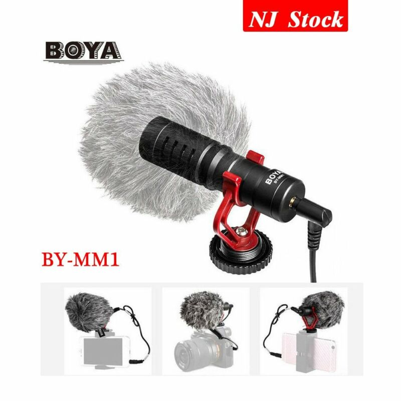 BOYA BY-MM1 Video Record Microphone for DSLR Digital Camera Smartphone Youtube