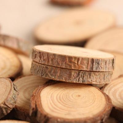 50Pcs Wood Slices For DIY Crafts 2-4CM Log Discs Round Centerpiece Dried Natural - Round Wood Centerpiece