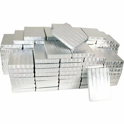 100 Silver Cotton Boxes Necklace Gift Displays
