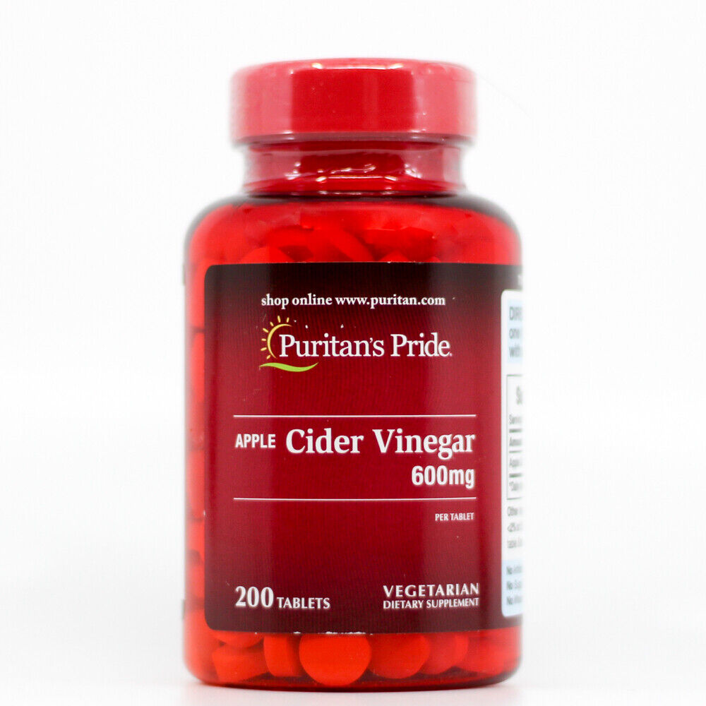 Puritan's Pride Apple Cider Vinegar 600mg 200 Tablets –