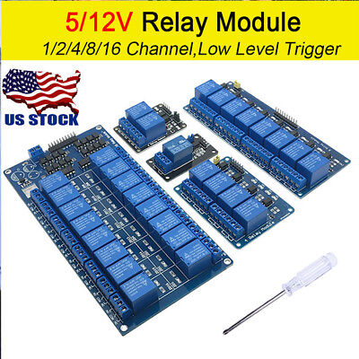 124816 Channel Relay Board Module Optocoupler Led For Arduino Pic Arm Avr Us