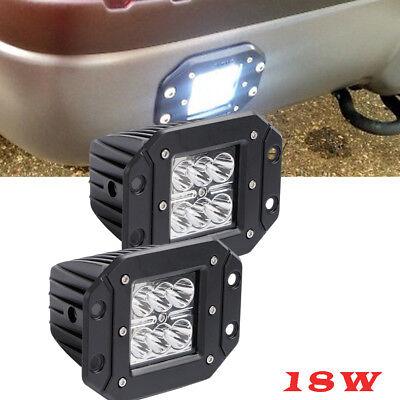 "18w Square Flush mount 4"" LED Work Light Truck Bumper UTV ATV REVERSE 4X4 RZR"