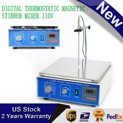 10l Digital Thermostatic Magnetic Stirrer Mixer With Hotplate Heating 0-1250 Rpm