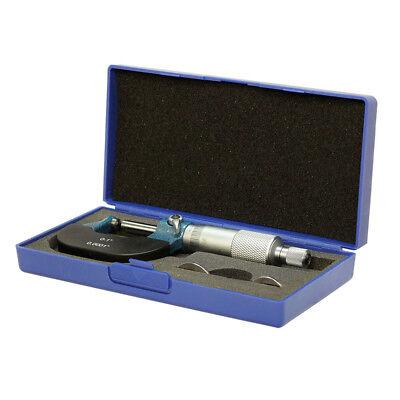 1 In Precision Dual Ball Anvil Micrometer Pipe Tube Round Carbide .0001 In Grad