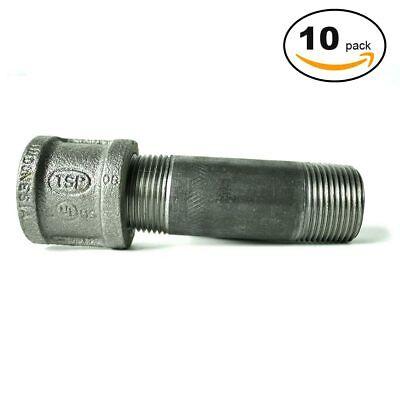 89176-10PKPrimeX 89176 3/4 R-L Nipple & Cpl (Black) - 10/Pack