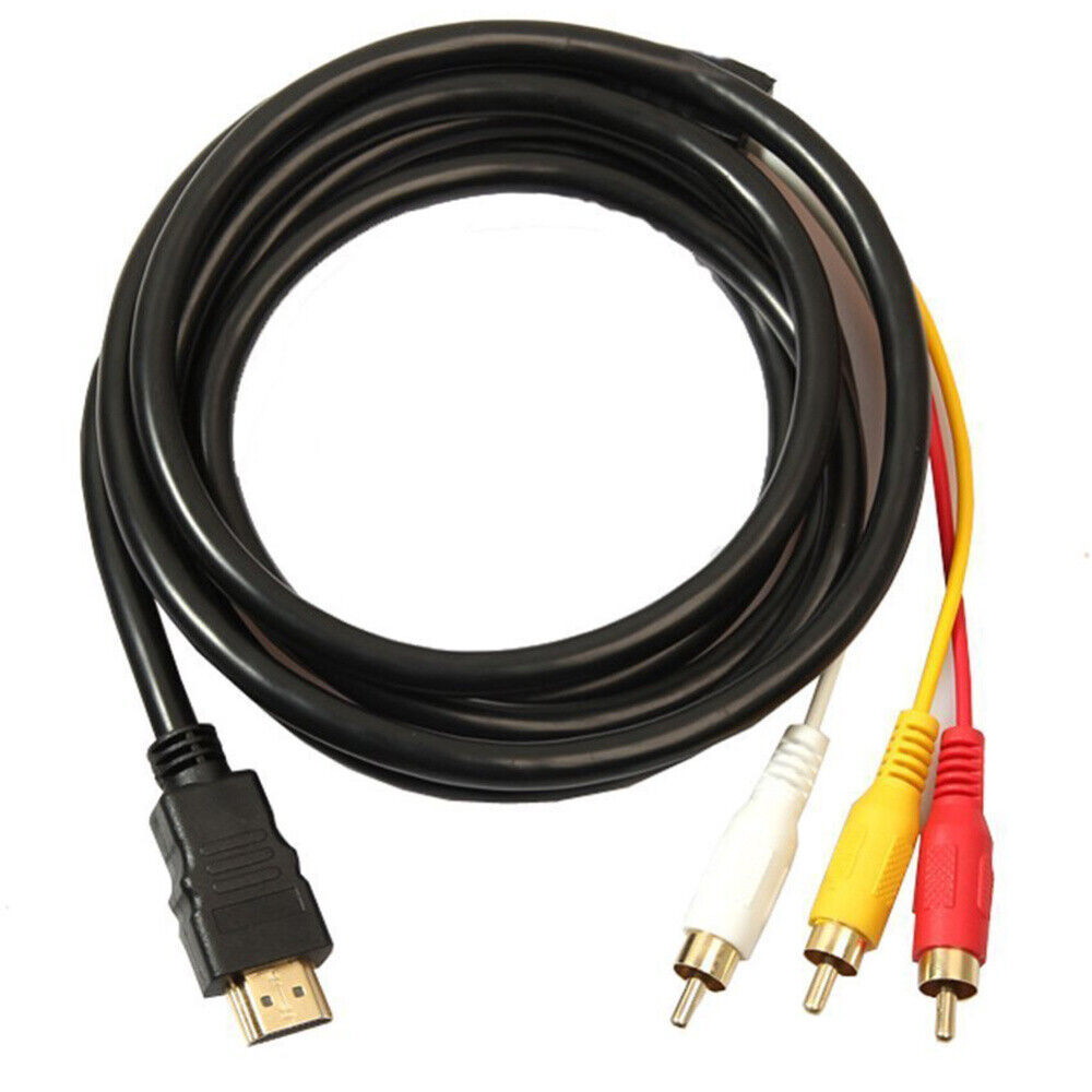 US SHIP HDMI Male to 3 RCA Video Audio AV Component Cable Adapter For HDTV PS4