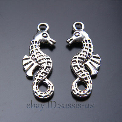 20pcs 20mm Charms Lover Horse Head Pendant Tibet Silver DIY Jewelry Charm A7421
