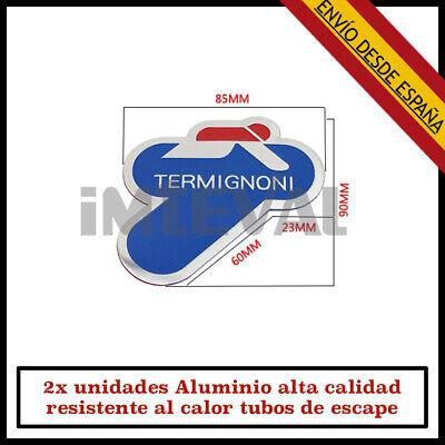 2x TERMIGNONI 3D PEGATINA ADHESIVO ALUMINIO RESISTENTE CALOR TUBO ESCAPE DECAL